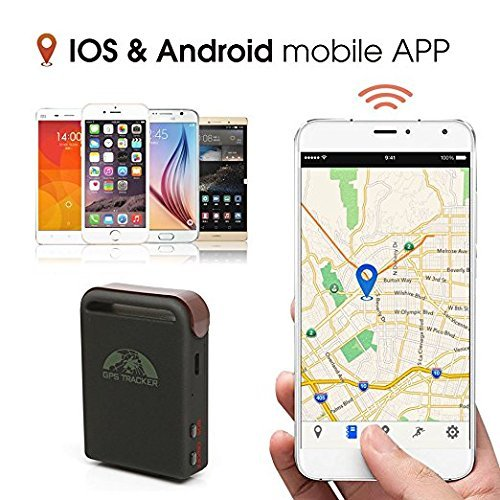 eptek @ original Coban Mini Traceur GPS Quad Band en temps r/éel Plus Petit espionnage Syst/ème GPS Mini /Étanche voiture Tracker TK102B gps102b avec slot TF