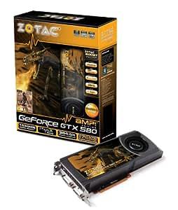 ZOTAC GeForce GTX 580 AMP! 1536MB GDDR5 PCI Express 2.0  Dual DVI/mini HDMI SLI Ready Graphics Card, ZT-50102-10P