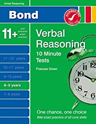 New Bond 10 Minute Tests Verbal Reasoning 8-9 Years