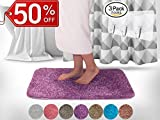 Yimobra Lively Color Bath Rugs XL 31.5 X 19.8 Inch Soft Non slip High Absorbent Bathroom Mats...