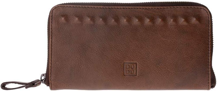 DuDu Portafoglio uomo in pelle vissuta vintage Onyx Brown porta carte credito