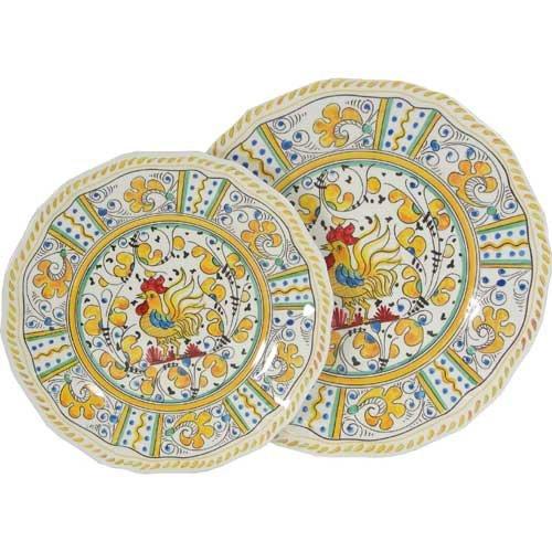 Amazon.com | Yellow Rooster Le Cadeaux Melamine Dinnerware Place Setting Salad Plates Salad Plates  sc 1 st  Amazon.com & Amazon.com | Yellow Rooster Le Cadeaux Melamine Dinnerware Place ...