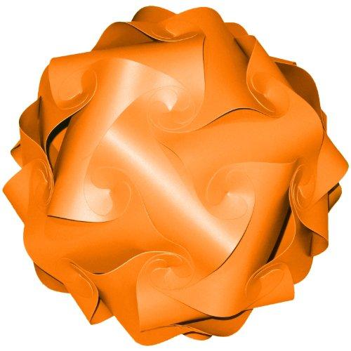 Songkran Jigsaw Lamp: Premium Modern Lamp Shade Kit – Carrot Orange (XLarge - 17.5 - Your Own Make Chandelier