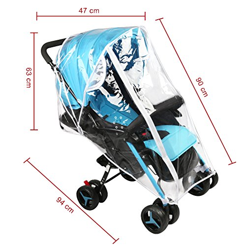 Accmor Universal Baby Stroller Rain Cover, Stroller Weather Shield, Waterproof, Water Resistant, Windproof, See Thru, Ventilation, Food Grade Material by accmor (Image #3)