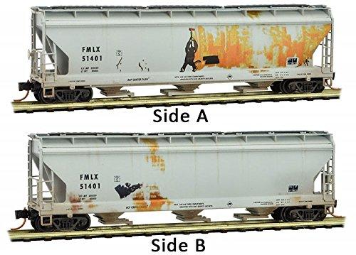 Micro-Trains MTL N-Scale 3-Bay Centerflow Hopper FMC Corp Graffiti #51401 - Micro Trains Line