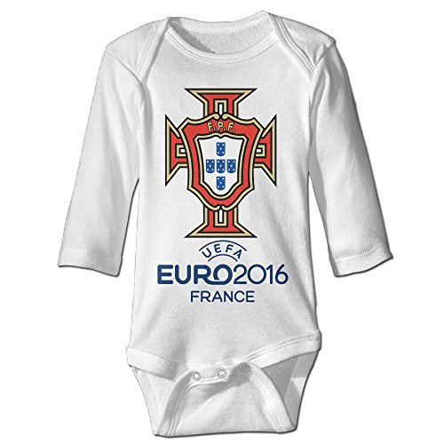 Babycu Baby's 2016 EURO Portugal National Team Hanging Bodysuit Romper Playsuit Outfits Clothes Climbing Clothes Long Sleeve
