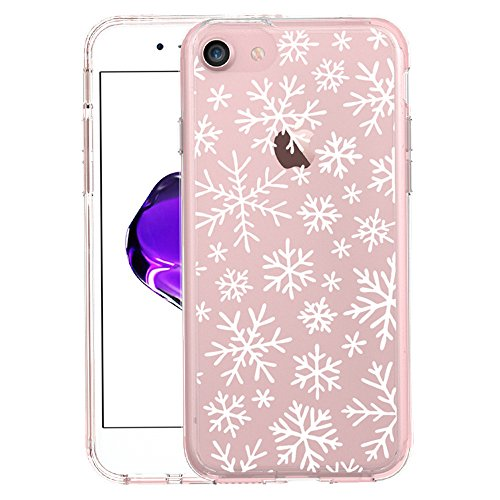 iPhone 7 case, iphone 8 case, BRILA Cute Snowflakes design printed Shock Absorption Reinforced TPU Frame Hard PC back protective case for iPhone 7/8 4.7 inch]()