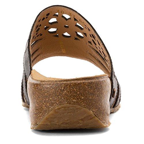Haflinger Women's Ts Donna Black Flat Sandal Black 2AM2HY