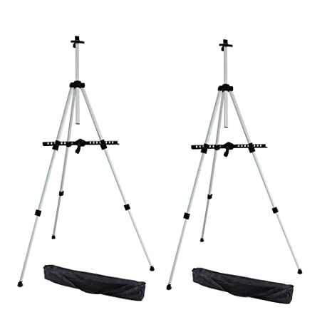 Ohuhu Artist Easel, Aluminum Field Easel Stand With Bag For Table Top/Floor