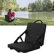 KedAiKJ Black Stadium Seat Cushion Outdoor Folding Seat Cushion Foldable Storage Belt Handle Adjustable Seat B