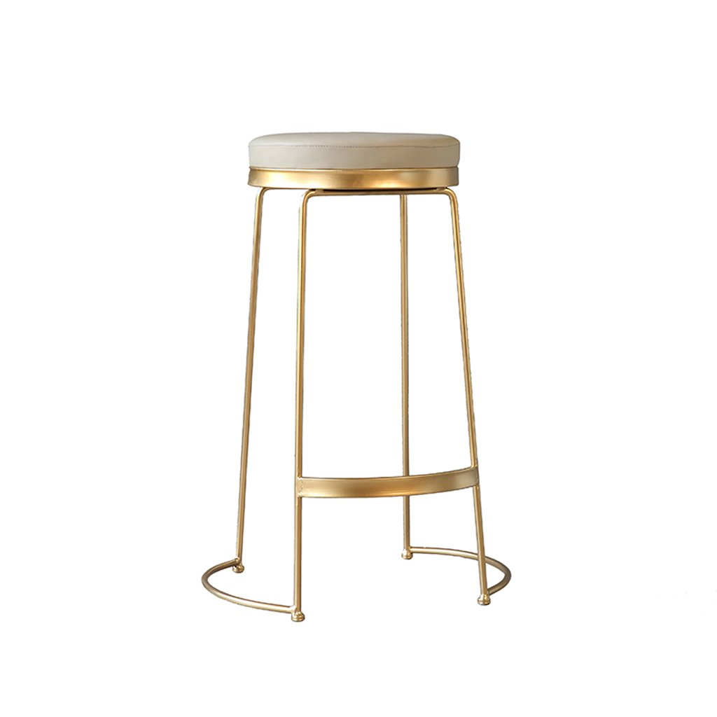 Leisure Bar Stool, Home Bar Chair Wrought Iron High Stool Restaurant Decorated Nordic Chair, Height 75CM