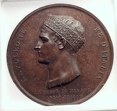 - 1805 unknown 1805 FRANCE Napoleon Bonaparte CORONATION as ITAL coin Good NGC