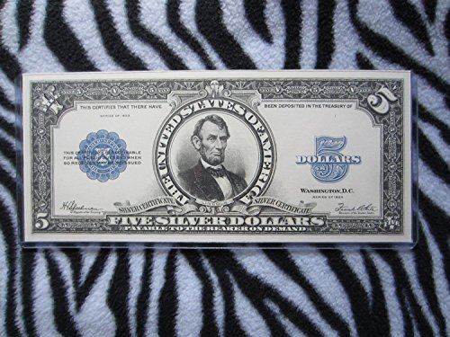 1923 $5 Five Dollars BEP Engraved Intaglio Impression Front Abraham Lincoln Porthole