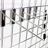 100X NEW GRIDWALL HOOKS PRONG ARM FOR MESH IN CHROME 4 6 8 10 12 FIVE SIZES (Gridwall hooks 10) by Complete Retail Solutions Ltd