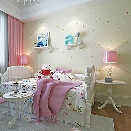 Splendidi bambini spargendo oro carta da parati camera da letto ...