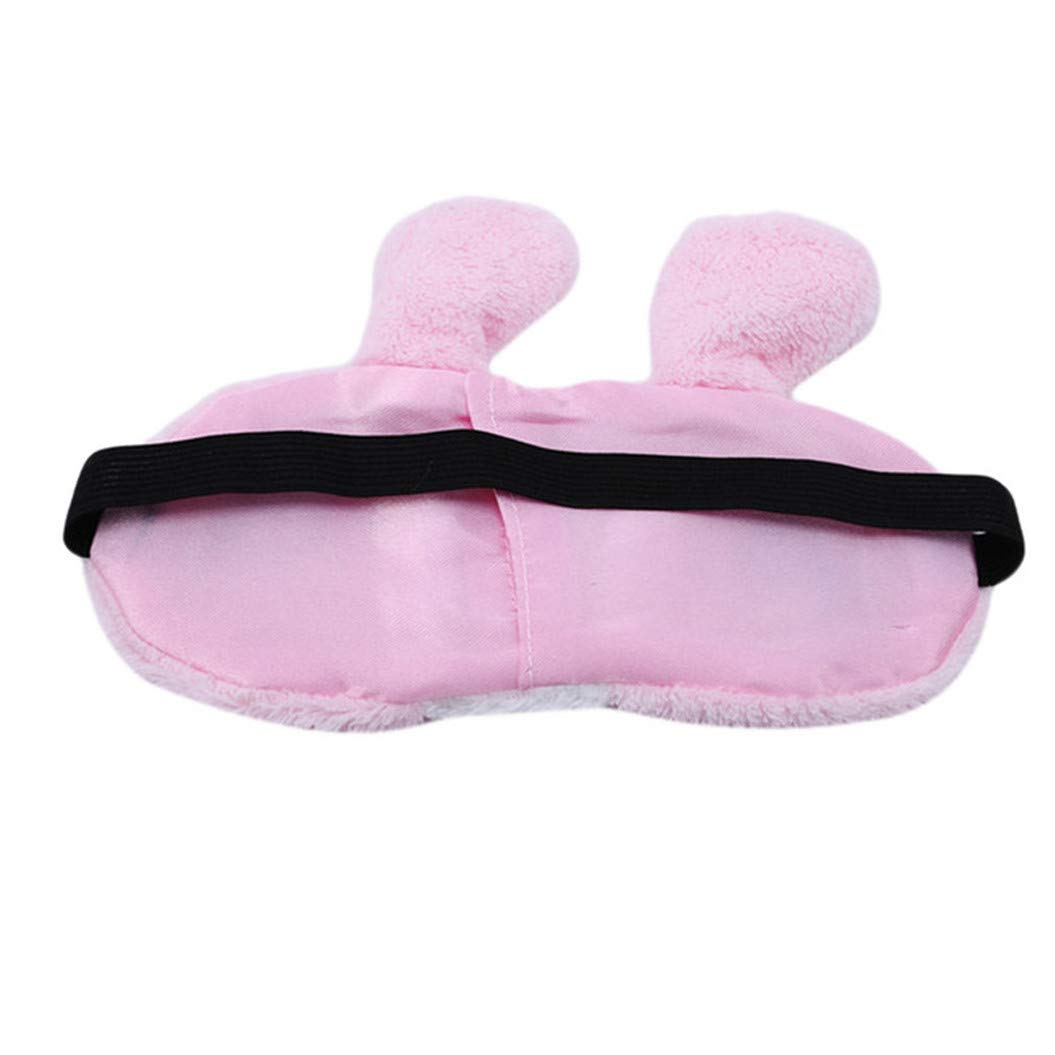 LZIYAN Sleep Eye Mask Lovely Cartoon Rabbit Eye Mask Portable Eyepatch Cute Blocks Out Light Blindfold For Home Travel,Pink by LZIYAN (Image #4)