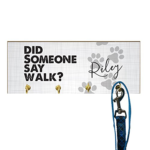 GiftsForYouNow Did Someone Say Walk Personalized Leash Holder