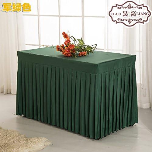 RUGAI-UE Oficina de manteles de tela falda falda mesa rectangular ...