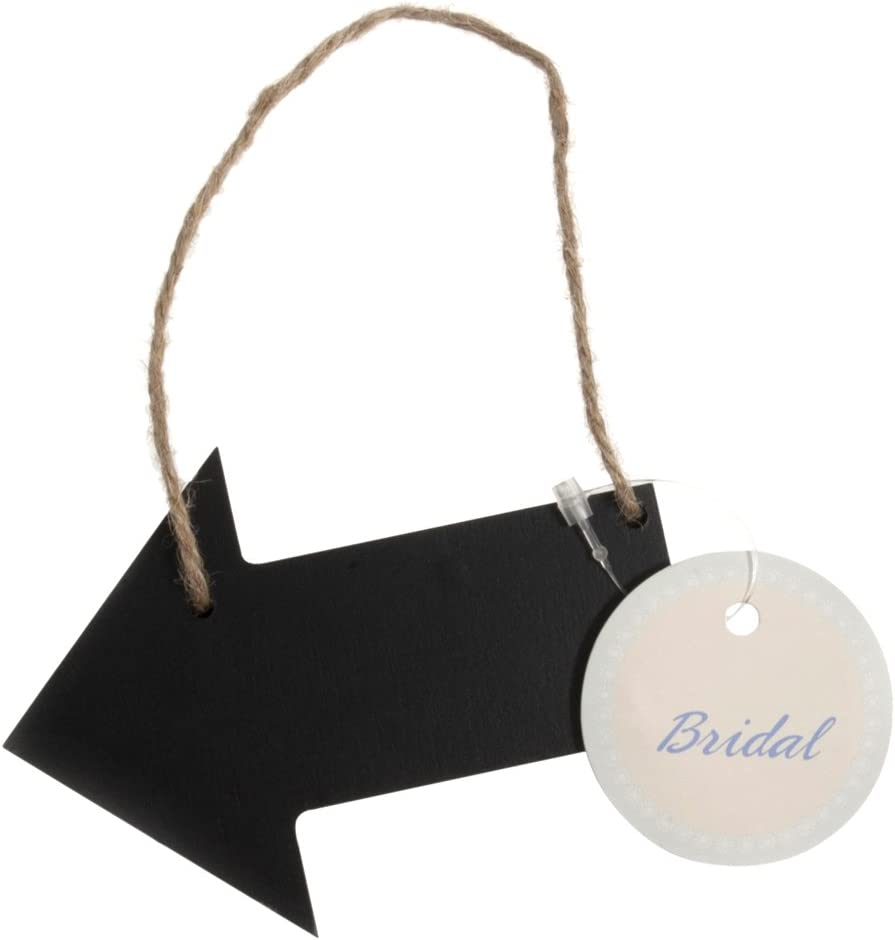 3 x Hand Made Hanging Wooden Chalk Board Direction Arrow Party Signs Wedding
