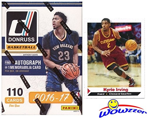 Autograph Card (2016/2017 Panini Donruss NBA Basketball EXCLUSIVE Factory Sealed Retail Box with AUTOGRAPH or MEMORABILIA Card Plus BONUS Kyrie Irving ROOKIE! Ben Simmons & Brandon Ingram RC Year Product! Wowzzer!)