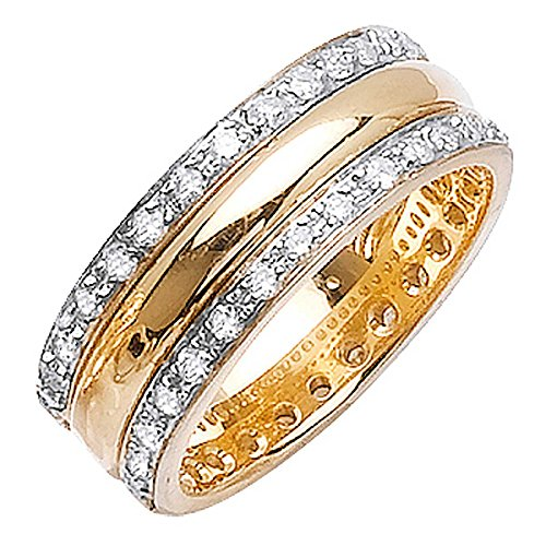1.88ct TDW White Diamonds 14K Yellow Gold Modern Men's Wedding Band (G-H, SI1-SI2) (8mm) Size-11c2