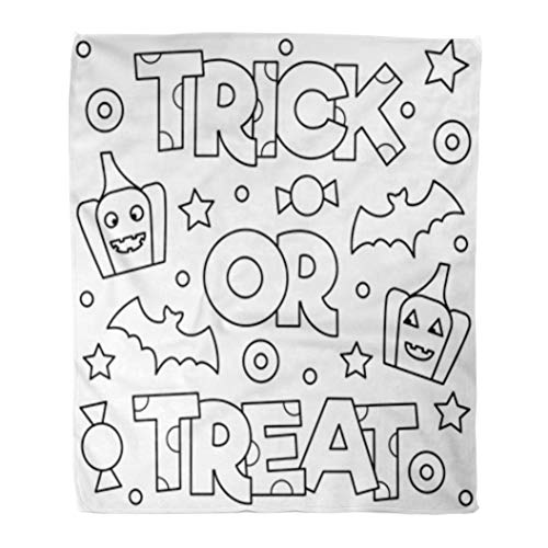 Golee Throw Blanket Abstract Trick Treat Coloring Page