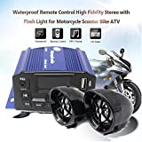 Sedeta 3inch Waterproof Anti-Theft Motorcycle Audio Speaker MP3 Player with Remote Control for Outdoor vheiles