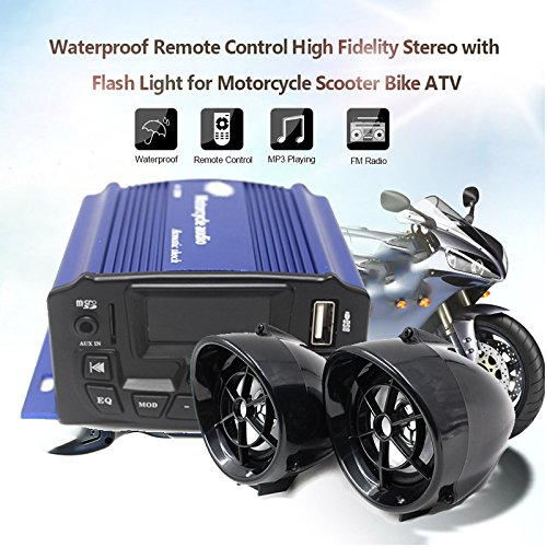 Sedeta 3inch Waterproof Anti-Theft Motorcycle Audio Speaker MP3 Player with Remote Control for Outdoor vheiles by Sedeta