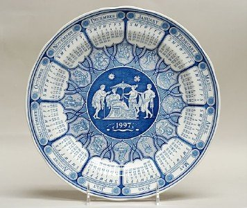 Plate Dinner Collection Blue Room (Spode Blue Room Collection 1997 Plate (Greek))
