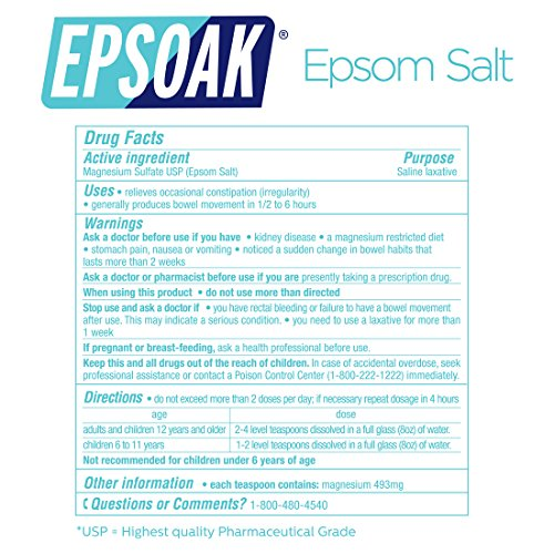 Epsoak USP Epsom Salt 39.5 lbs Magnesium Sulfate (Qty 2, 19.75 lb. Bulk Bags) by Epsoak (Image #7)