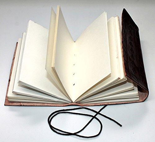 cuir v/éritable livre journal bloc notes papier premium vintage Carnet Fleur de Vie 13cm X 17cm Kooly Zen