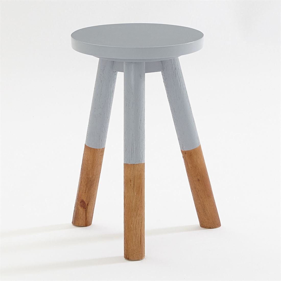 BrylaneHome Arlo Dip-Dyed Table (Gray,0)