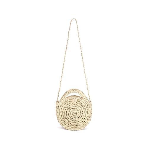 d68cd896ca7e Zongsi Chic Handmade Rattan Woven Round Handbag Vintage Retro Straw Knitted  Messenger Bag Lady Summer Beach Shoulder bag
