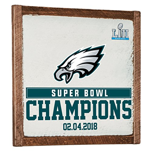 NFL Philadelphia Eagles Super Bowl Champions Vintage Wall Art, White, One Size by Rustic Marlin Designs