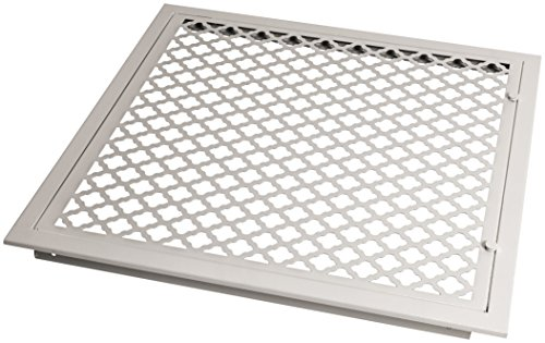 SteelCrest BTU20X20FFWH Bronze Series Designer Filter Return Vent with Hinged Door, White by SteelCrest