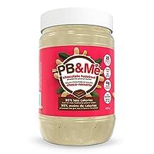 PB&Me Chocolate Hazelnut Powdered Peanut Butter - 90 Percent Less Fat 1 Pound