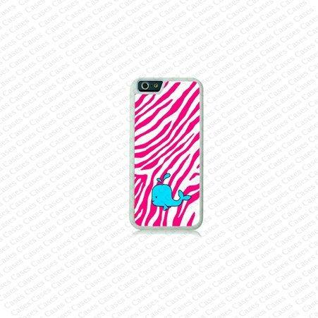Krezy Case iPhone 6 Case, iPhone 6 case,pink zebra stripe with whale iPhone 6 Case, Cute iPhone 6 Case, Unique...
