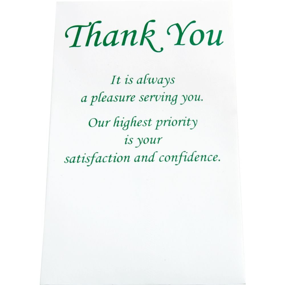 ''Thank You'' Envelopes Green Ink Pack of 250
