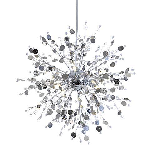 FidgetGear Modern Creative Crystal Dandelion LED Chandelier Pendant Lamp Ceiling Lights White 8 LED / 24W by FidgetGear (Image #2)
