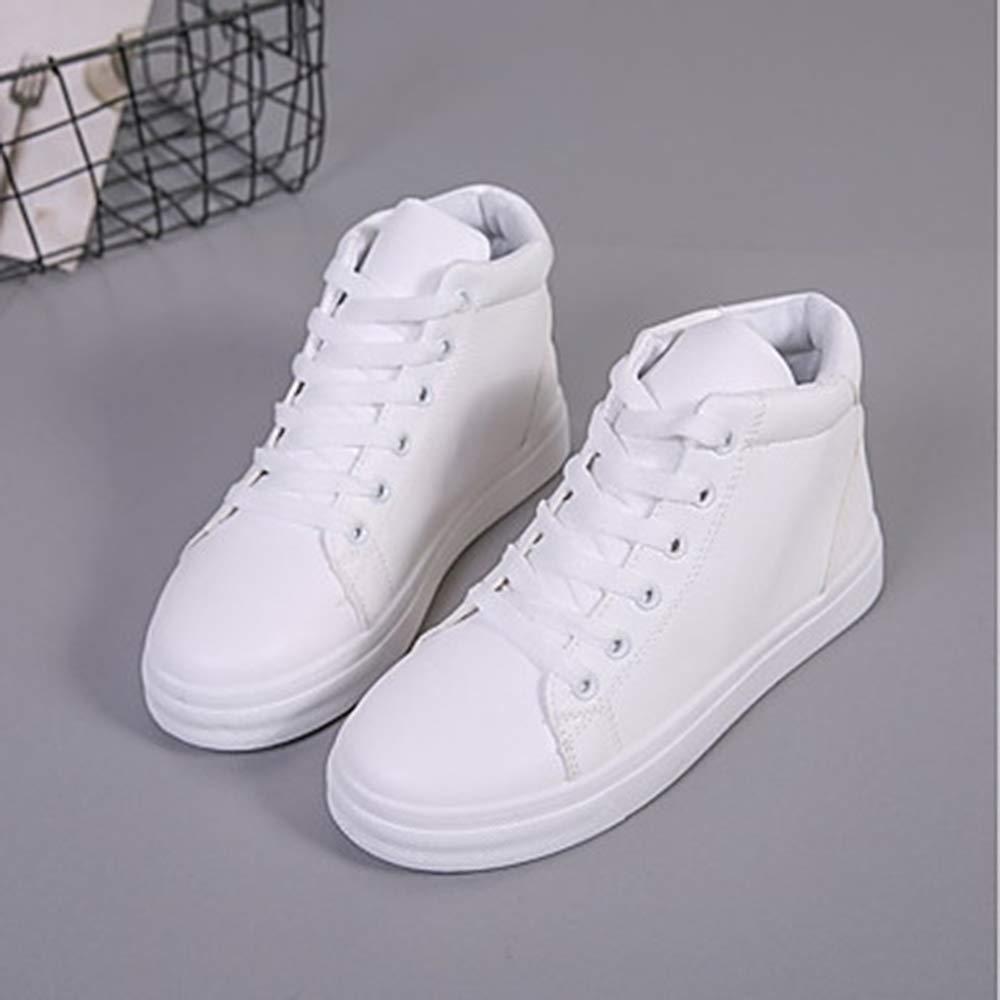 TTSchuhe Damen Schuhe Flacher PU Herbst Komfort Sneakers Flacher Schuhe Absatz Weiß/Blau / Rosa 4e3516