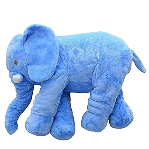 MorisMos Stuffed Elephant Plush Toy Blue 24 Inch (Elephant Blue)
