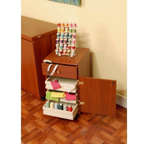 Arrow Sewing Cabinets 802 Suzi, Four Drawer Sewing Storage Cabinent, Cherry by Arrow Sewing Cabinets