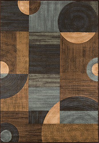 - Momeni Rugs DREAMDR-01BRN7A9A Dream Collection, Contemporary Area Rug, 7'10