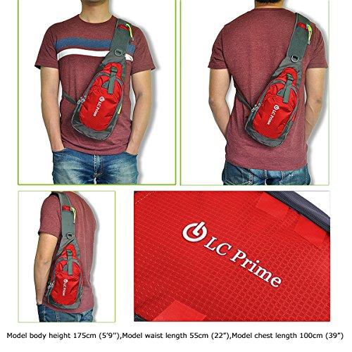 4e124d91b848 LC PrimeSling Bag Chest Shoulder Unbalance Gym Fanny - Import It All