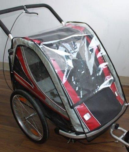 Toldo plastico de lluvia para remolque de bicicleta ebikeco