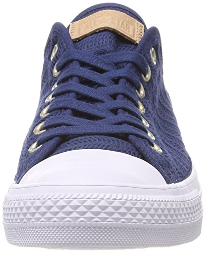 Converse Women's CTAS Ox Navy/Tan/White Trainers, Blue Blue (Navy/Tan/White 426)