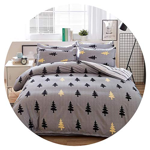 Heart to hear-pillowcase-and-sheet-sets Grey Bedding Set Summer Bed linens 3or 4pcs Set Duvet Cover Set Pastoral Bed Set Kids Adult Bedding Bedclothes Queen kin,Dream Forest,Full