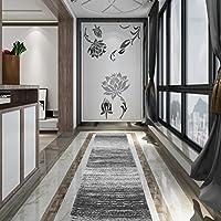Carpet Runner Area Rug for Hallway,Aisle,Kitchen 12×67 (Modern/Grey Stripe)