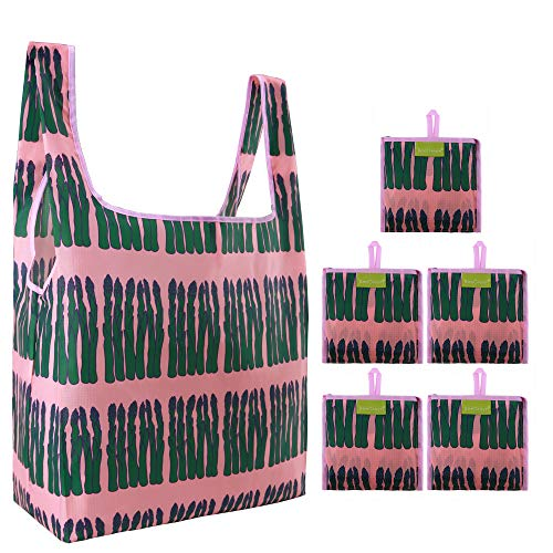 Reusable Grocery Bags Set, Grocery Tote Foldable...