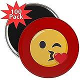 CafePress - Kissing Emoji - 2.25'' Magnet (100 pack)